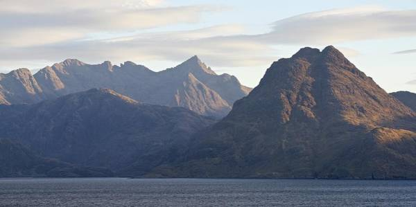 Photograph - Golden Light Hits The Cuillin Ridge by Stephen Taylor