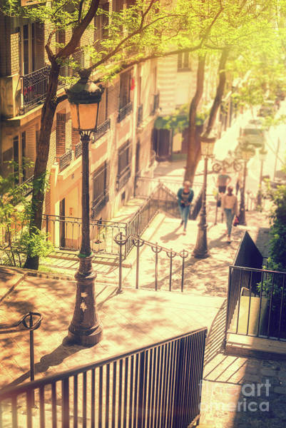 Wall Art - Photograph - Golden Light In Montmartre, Paris by Delphimages Photo Creations