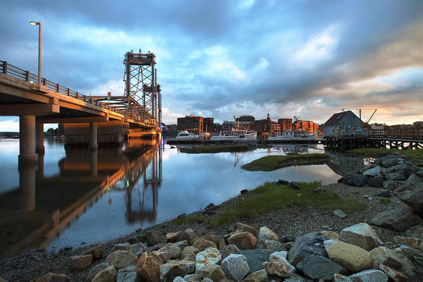Wall Art - Photograph - Golden Light In Portsmouth by Eric Gendron