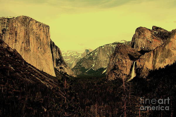 Photograph - Golden Light Over Yosemite Valley by Wingsdomain Art and Photography