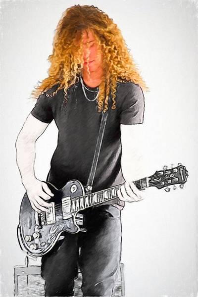 Photograph - Golden Locks Guitarist by Alice Gipson
