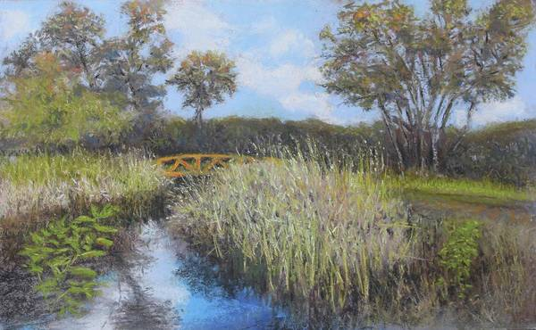 Painting - Golden Marsh by Dennis Sullivan