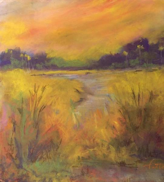 Painting - Golden Marsh by Karen Ann Patton