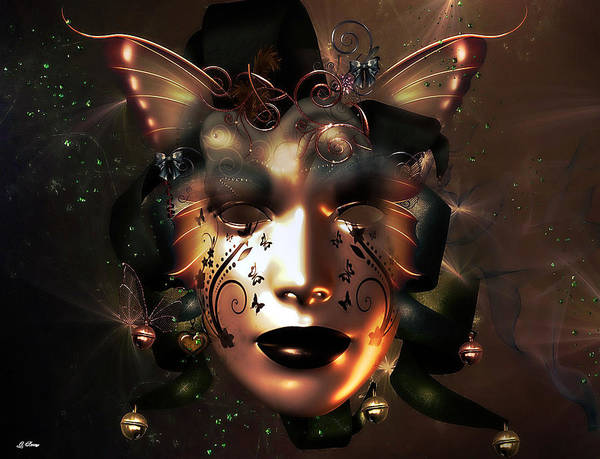 Harlequin Mixed Media - Golden Masquerade by G Berry