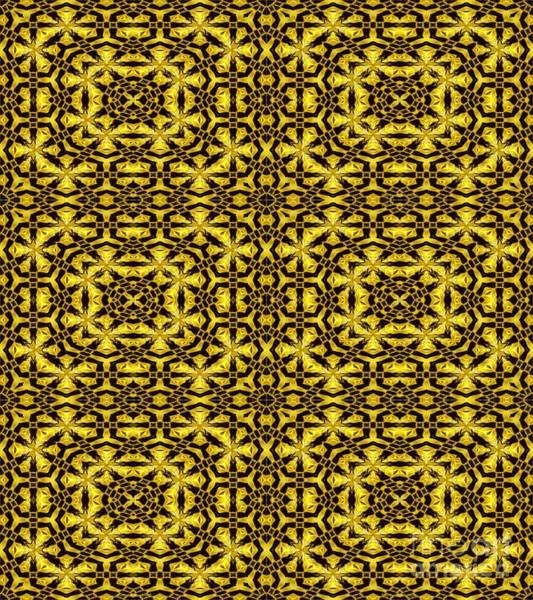 Photograph - Golden Metallic Lights Kaleidoscope Mandala Abstract 2 by Rose Santuci-Sofranko