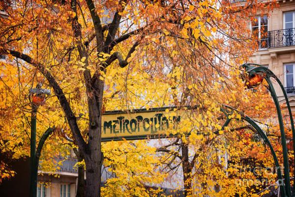 Nouveau Photograph - Golden Metropolitain  by Delphimages Photo Creations