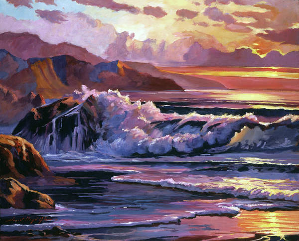 Painting - Golden Moment Mendocino Coast. by David Lloyd Glover