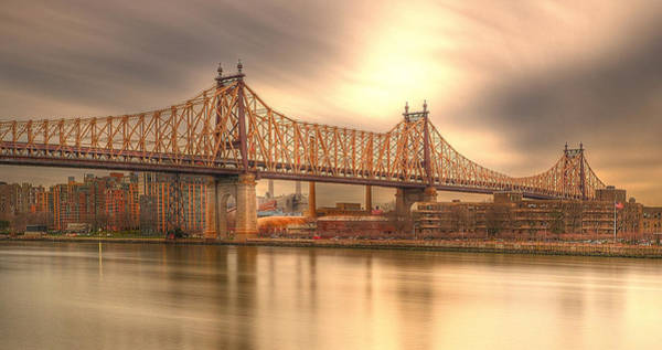 Roosevelt Island Wall Art - Photograph - Golden Moment On The 59th Street Bridge by Kenneth Laurence  Neal