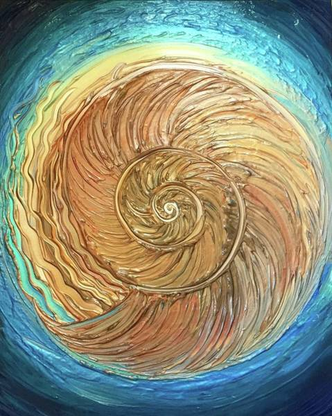 Painting - Golden Nautilus by Michelle Pier