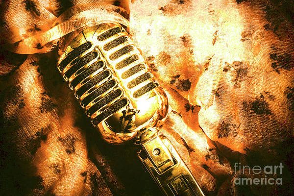 Microphone Photograph - Golden Oldies Art by Jorgo Photography - Wall Art Gallery