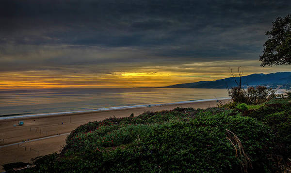 Photograph - Golden, Orange And Blue Sunset - Panorama by Gene Parks