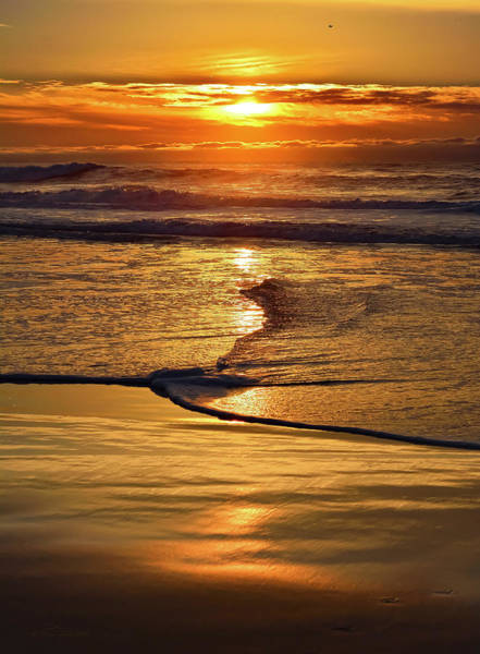 Golden Pacific Sunset Art Print