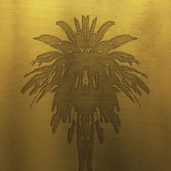 Palm Trees Digital Art - Golden Palm Tree by Edouard Coleman
