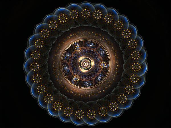 Digital Art - Golden Paradox by Barbara A Lane