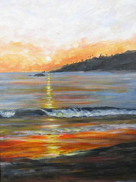 Laguna Beach Painting - Golden Path To Laguna by John Loyd Rushing