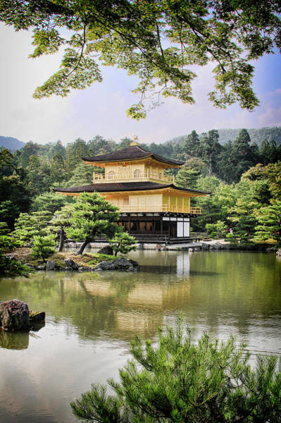 Digital Art - Golden Pavilion by Nancy Ingersoll