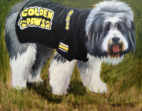 Painting - Golden Paws by Dustin Miller