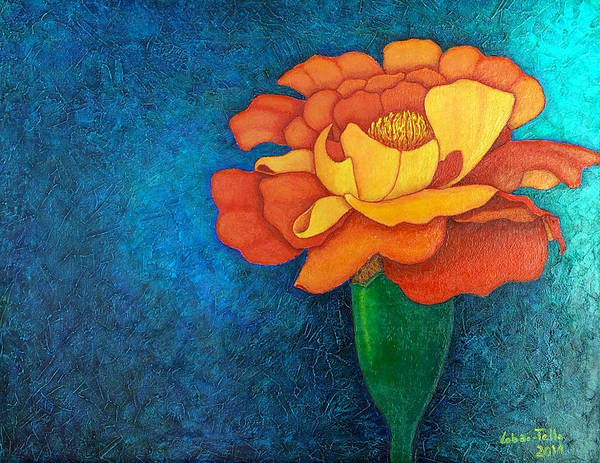 Painting - Golden Petals  by Madalena Lobao-Tello