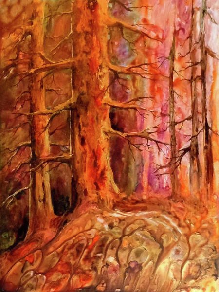 Painting - Golden Pines by Sherry Shipley