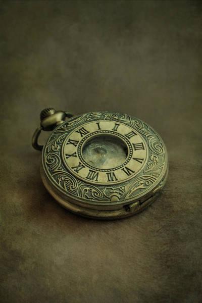 Photograph - Golden Pocket Watch by Jaroslaw Blaminsky