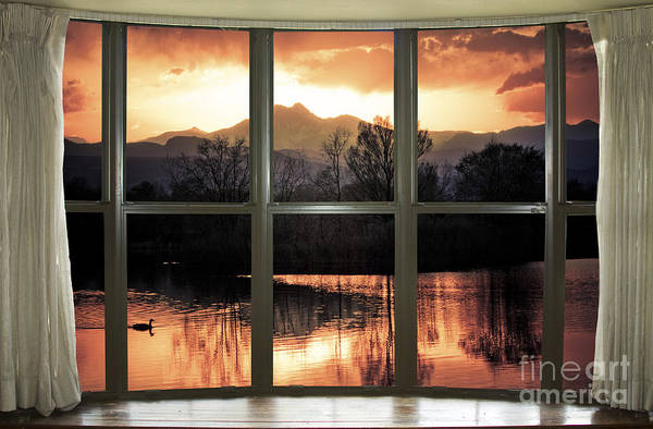 Photograph - Golden Ponds Bay Window View by James BO Insogna