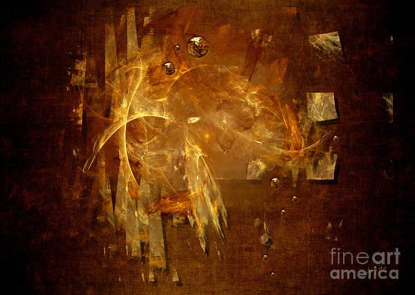 Digital Art - Golden Rain by Alexa Szlavics