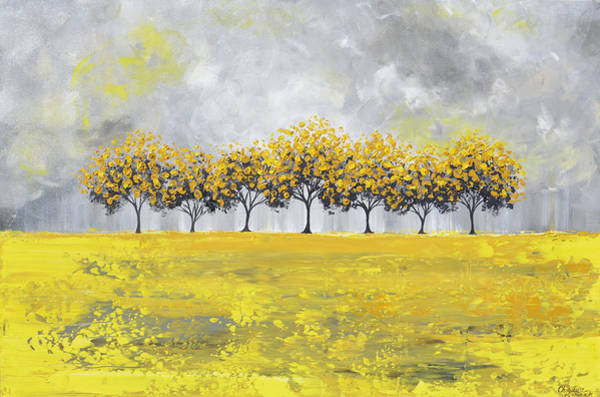 Wall Art - Painting - Golden Rain by Christine Bell