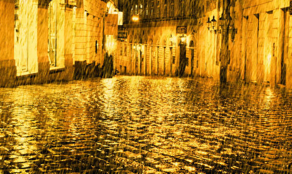 Photograph - Golden Rain In Vienna At Night by Jonny Jelinek