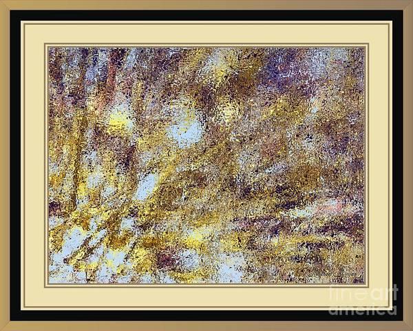 Bright Colours Mixed Media - Golden Rain by Michael Mirijan