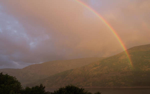 Haweswater Wall Art - Photograph - Golden Rainbow by Kathryn Bell
