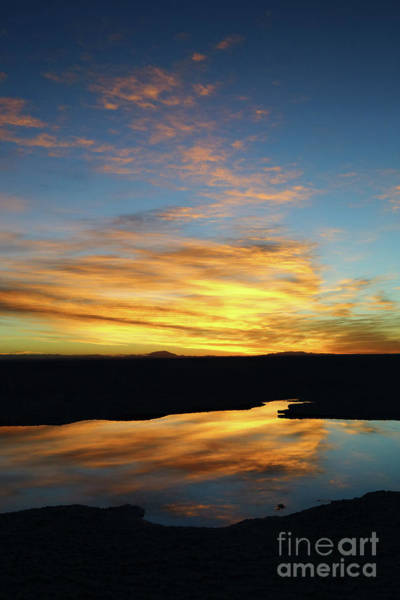 Photograph - Golden Reflections Salar De Uyuni Bolivia by James Brunker