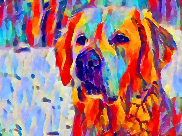 Wall Art - Painting - Golden Retriever by Chris Butler