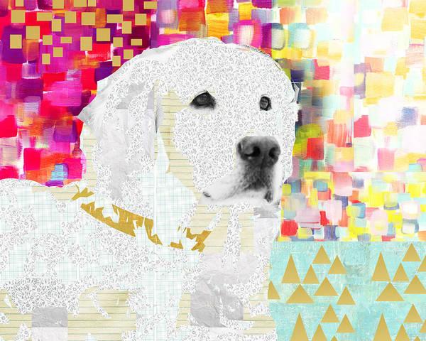 Golden Retriever Mixed Media - Golden Retriever Collage by Claudia Schoen