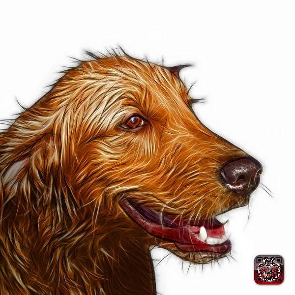 Painting - Golden Retriever Dog Art- 5421 - Wb by James Ahn