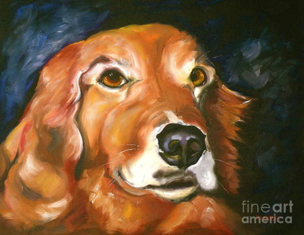 Wall Art - Painting - Golden Retriever Forever Friend by Susan A Becker