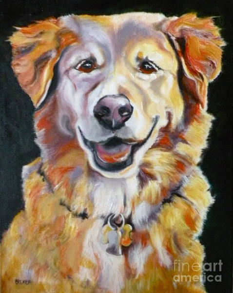 Painting - Golden Retriever Most Huggable by Susan A Becker