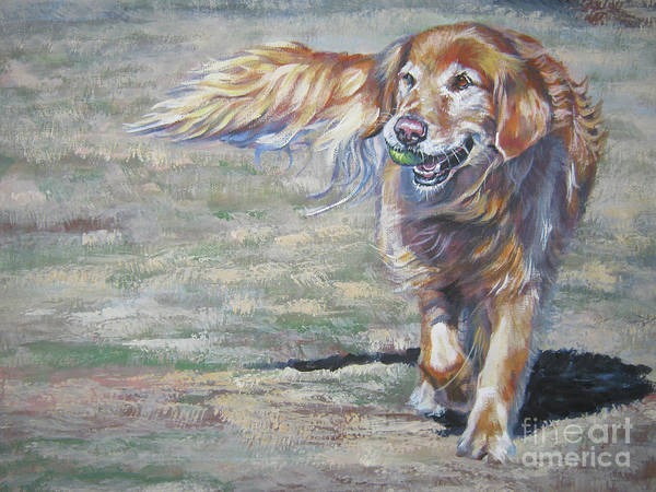 Wall Art - Painting - Golden Retriever Play Time by Lee Ann Shepard