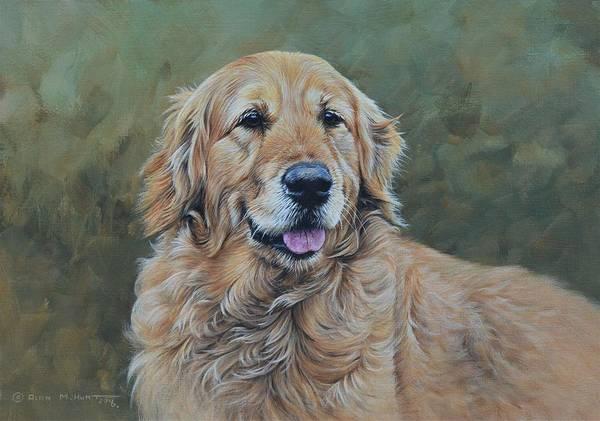 Wall Art - Painting - Golden Retriever Portrait by Alan M Hunt