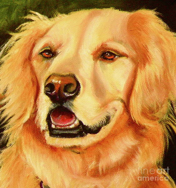 Wall Art - Painting - Golden Retriever Sweet As Sugar by Susan A Becker