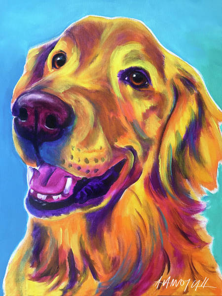 Wall Art - Painting - Golden Retriever - Tobin by Alicia VanNoy Call