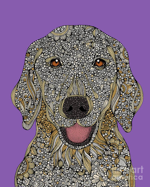 Golden Retriever Digital Art - Golden Retriever by MGL Meiklejohn Graphics Licensing