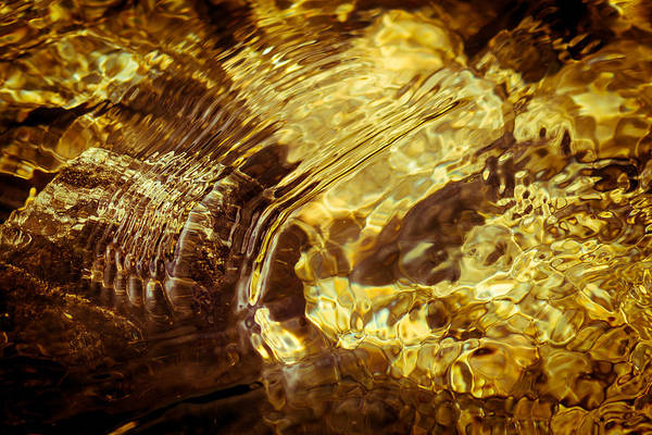 Golden Ripples Art Print