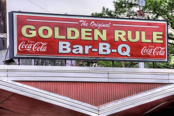 Wall Art - Photograph - Golden Rule Bbq by JC Findley