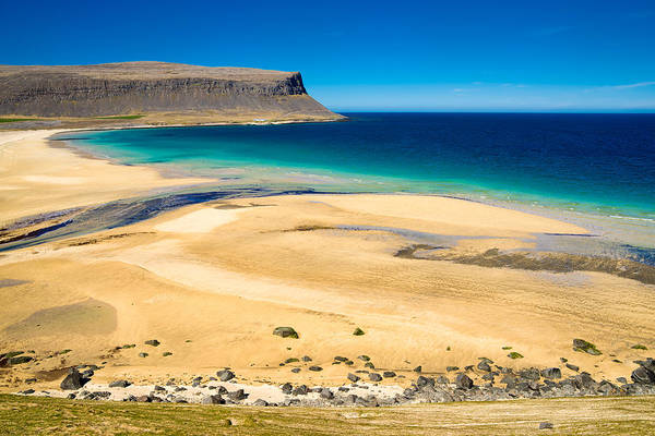 Photograph - Golden Sand Beach In Iceland Westfjords by Matthias Hauser