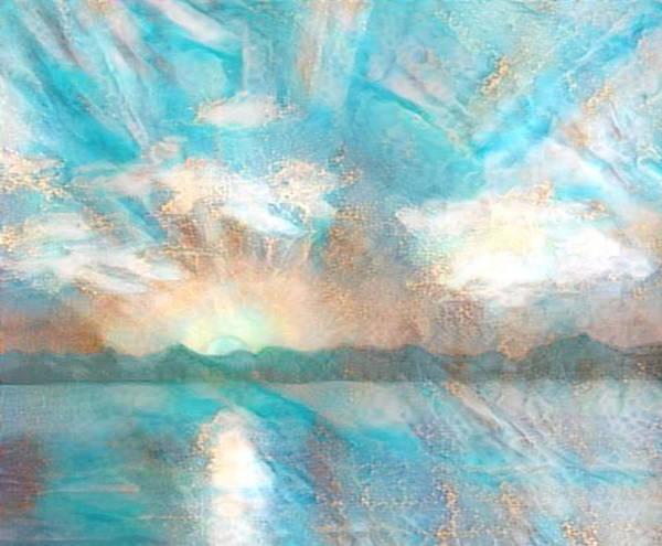 Carribean Islands Digital Art - Golden Seas Gs-8a by Artistic Mystic