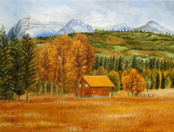 Painting - Golden Season by Angeles M Pomata