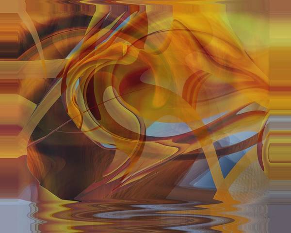 Digital Art - Golden Shallows by rd Erickson