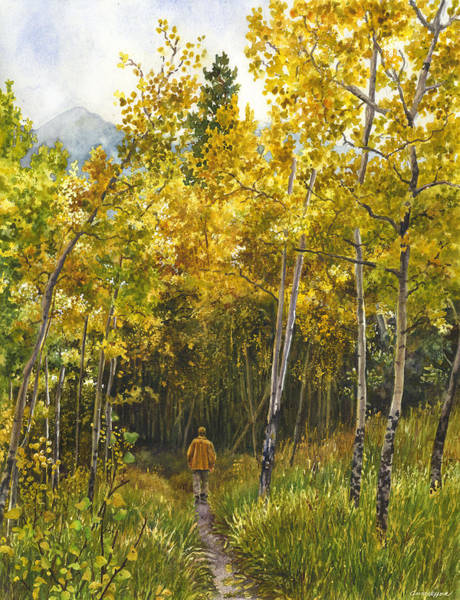 Painting - Golden Solitude by Anne Gifford