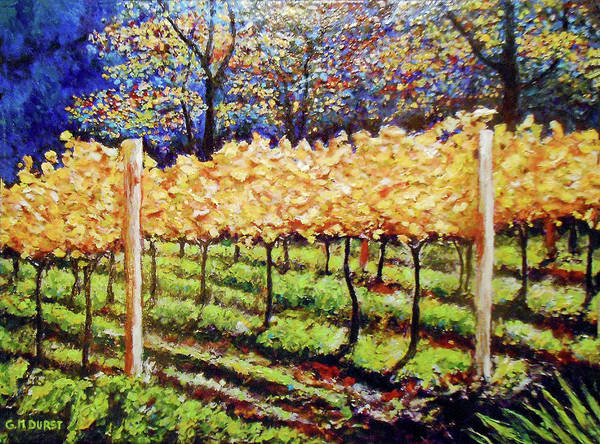 Impressionistic Vineyard Wall Art - Painting - Golden Splendor by Michael Durst