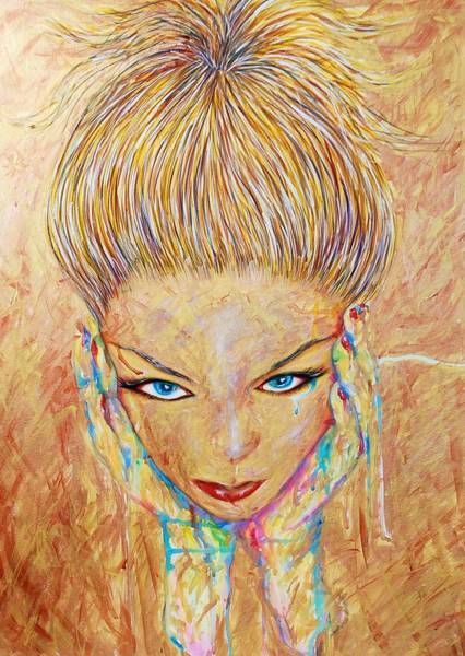 Mixed Media - Golden Star by Joseph Lawrence Vasile